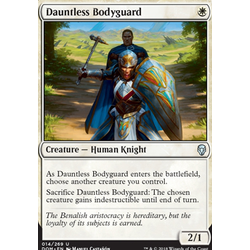 Magic löskort: Dominaria: Dauntless Bodyguard