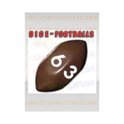 Fantasy Football  Accessories - Football D6 Brown/White