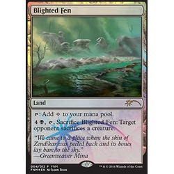 Magic löskort: FNM Promo: Blighted Fen (Foil)