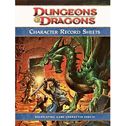 D&D 4.0: Character Record Sheets