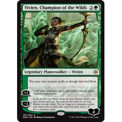 Magic löskort: War of the Spark: Vivien, Champion of the Wilds