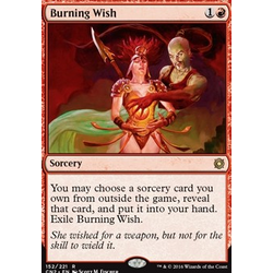 Magic löskort: Conspiracy: Take the Crown: Burning Wish