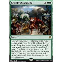 Magic löskort: Conspiracy: Take the Crown: Selvala's Stampede