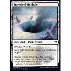 Magic löskort: Kaldheim: Snowfield Sinkhole