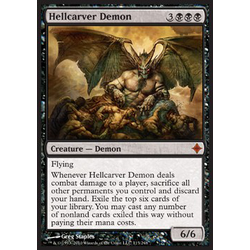 Magic löskort: Rise of the Eldrazi: Hellcarver Demon