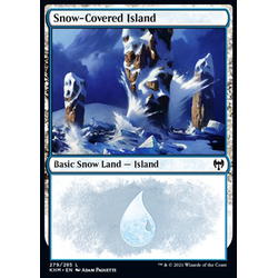 Magic löskort: Kaldheim: Snow-Covered Island (v.2)