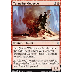 Magic löskort: Battle for Zendikar: Tunneling Geopede