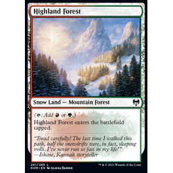 Magic löskort: Kaldheim: Highland Forest