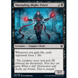 Magic löskort: Zendikar Rising: Marauding Blight-Priest (Foil)