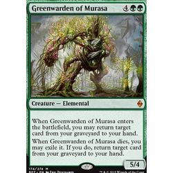 Magic löskort: Battle for Zendikar: Greenwarden of Murasa (prerelease)