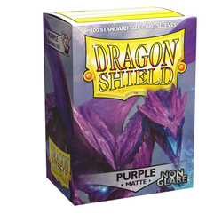 Card Sleeves Standard Non-Glare Matte Purple (100 in box) (Dragon Shield)