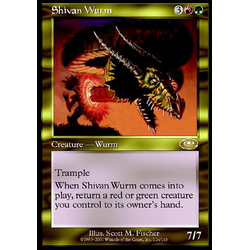 Magic löskort: Planeshift: Shivan Wurm