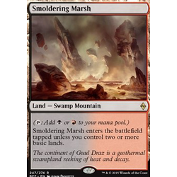 Magic löskort: Battle for Zendikar: Smoldering Marsh
