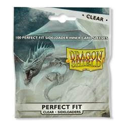 Card Sleeves Perfect Fit Sideloaders Clear (100) (Dragon Shield)