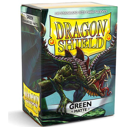 Card Sleeves Standard Matte Green (100 in box) (Dragon Shield)