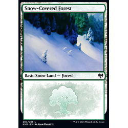 Magic löskort: Kaldheim: Snow-Covered Forest (v.1)