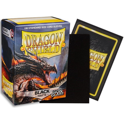 Card Sleeves Standard Non-Glare Matte Black (100 in box) (Dragon Shield)