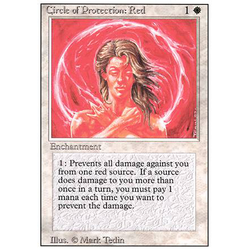 Magic löskort: Revised: Circle of Protection: Red