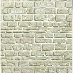 ABS Plasticard - ROUGH ROCK WALL Textured Sheet - A4