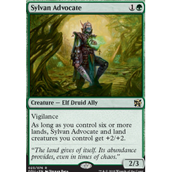 Magic löskort: Duel Decks: Elves vs Inventors: Sylvan Advocate