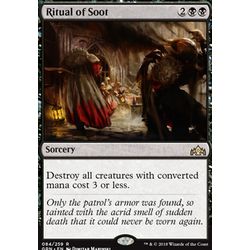 Magic löskort: Guilds of Ravnica: Ritual of Soot