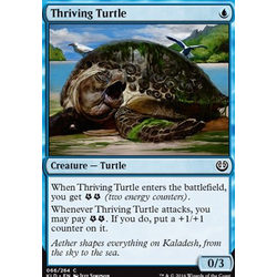 Magic löskort: Kaladesh: Thriving Turtle (foil)