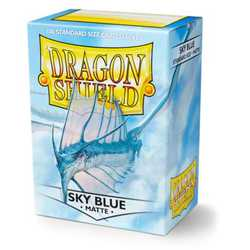 Card Sleeves Standard Matte Sky Blue (100 in box) (Dragon Shield)