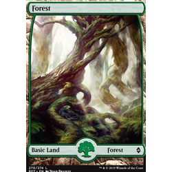 Magic löskort: Battle for Zendikar: Forest, version 270