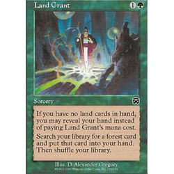 Magic löskort: Mercadian Masques: Land Grant