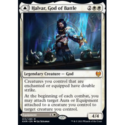 Magic löskort: Kaldheim: Halvar, God of Battle // Sword of the Realms