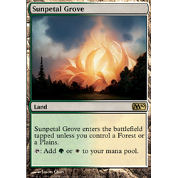 Magic löskort: M10: Sunpetal Grove
