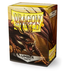 Card Sleeves Standard Matte Umber (100 in box) (Dragon Shield)