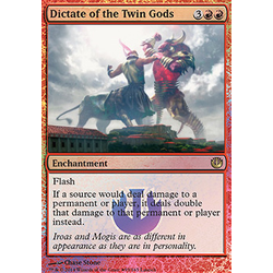 Magic löskort: Journey into Nyx: Dictate of the Twin Gods (Release Foil)