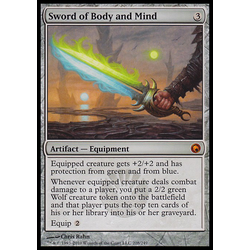 Magic löskort: Scars of Mirrodin: Sword of Body and Mind