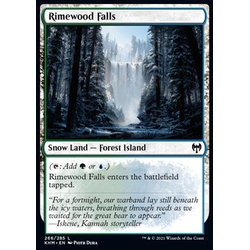 Magic löskort: Kaldheim: Rimewood Falls