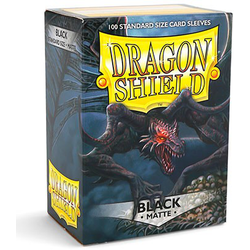 Card Sleeves Standard Matte Black (100 in box) (Dragon Shield)