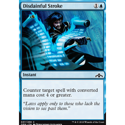 Magic löskort: Guilds of Ravnica: Disdainful Stroke