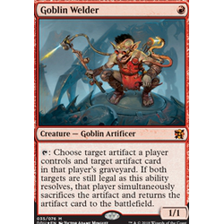 Magic löskort: Duel Decks: Elves vs Inventors: Goblin Welder (Foil)