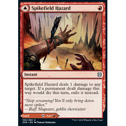 Magic löskort: Zendikar Rising: Spikefield Hazard // Spikefield Cave