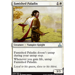 Magic löskort: Rivals of Ixalan: Famished Paladin