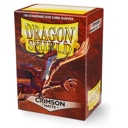 Card Sleeves Standard Matte Crimson (100 in box) (Dragon Shield)