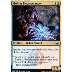 Magic löskort: Guilds of Ravnica: Goblin Electromancer