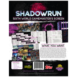 Shadowrun: Gamemaster Screen