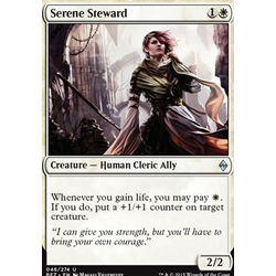 Magic löskort: Battle for Zendikar: Serene Steward