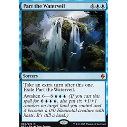 Magic löskort: Battle for Zendikar: Part the Waterveil