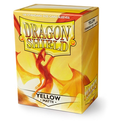 Card Sleeves Standard Matte Yellow (100 in box) (Dragon Shield)