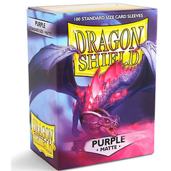 Card Sleeves Standard Matte Purple (100 in box) (Dragon Shield)