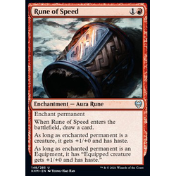 Magic löskort: Kaldheim: Rune of Speed