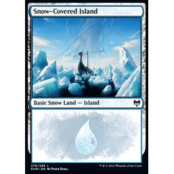 Magic löskort: Kaldheim: Snow-Covered Island (v.1)