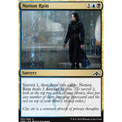 Magic löskort: Guilds of Ravnica: Notion Rain